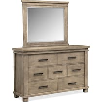 tribeca bedroom gray dresser & mirror