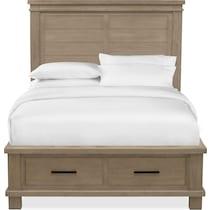 tribeca bedroom gray queen storage bed