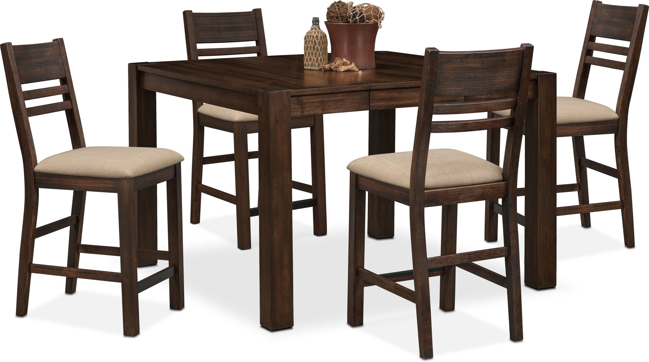 Dining Room Furniture - Tribeca Counter-Height Dining Table and 4 Dining Chairs