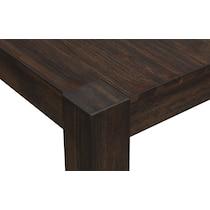 tribeca dining dark brown dining table