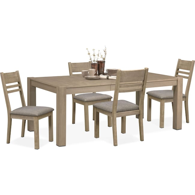 Dining Room Furniture - Tribeca Dining Table and 4 Dining Chairs