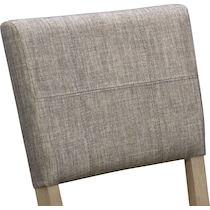tribeca dining gray upholstered side chair