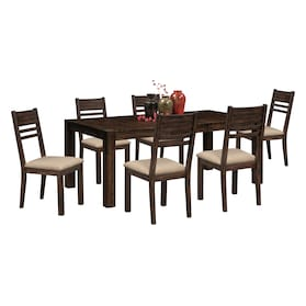 Tribeca Dining Table and 6 Dining Chairs