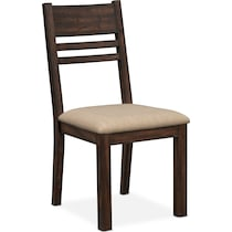 tribeca dining tobacco ladder back side chair