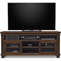 tribeca occasional dark brown tv stand