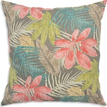 tropical multicolor outdoor pillow