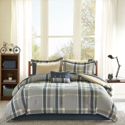 Tyen Twin XL Comforter and Sheet Set