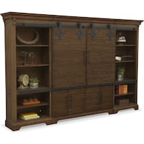 union city brown entertainment wall unit