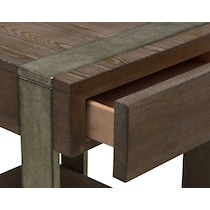 union city dark brown end table