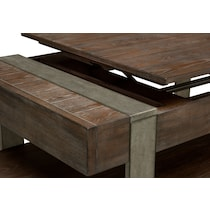 union city dark brown lift top coffee table