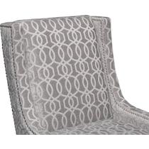 venn gray accent chair
