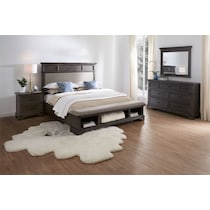 victor gray  pc king storage bedroom