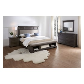 Victor Bookcase Footboard Bed