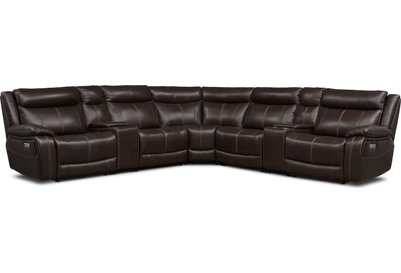 vince dark brown  pc power reclining sectional