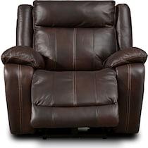vince dark brown power recliner