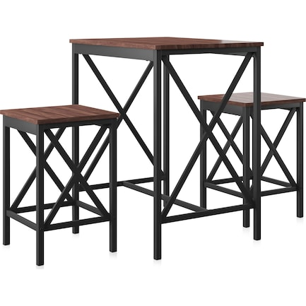 Vivy Dining Table and 2 Bar Stools