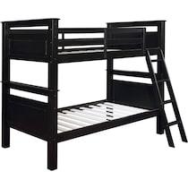 walker black twin over twin bunk bed