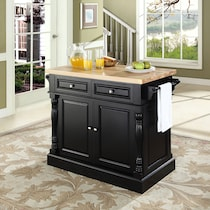 warren black kitchen island