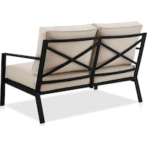 watson black outdoor loveseat set