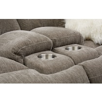 wave collection gray manual reclining loveseat
