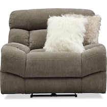 wave collection gray power recliner