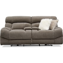 wave collection gray power reclining loveseat