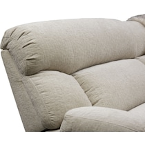 wave collection white power reclining sofa