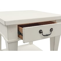 waverly white end table