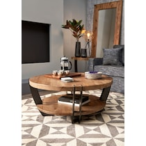 wessex light brown coffee table