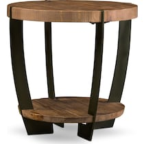 wessex light brown end table