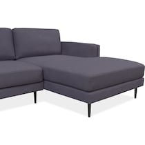 west end gray  pc sectional and accent chair