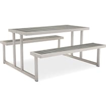 westlake gray outdoor picnic table