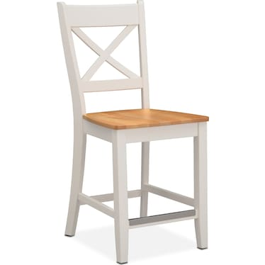 Nantucket Counter-Height Dining Chair - Maple and White