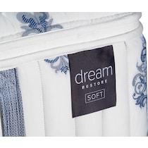white queen mattress  low  profile split foundation set