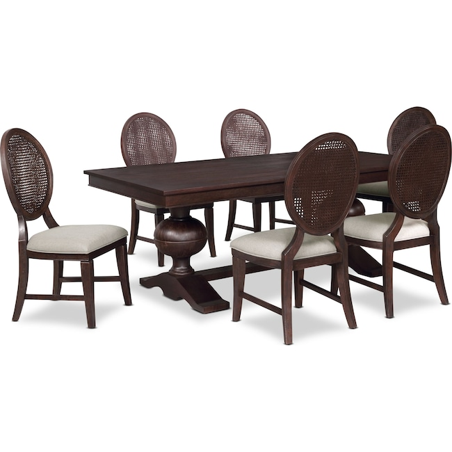 Dining Room Furniture - Wilder Rectangular Dining Table and 6 Side Chairs