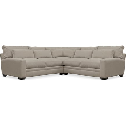 Winston Hybrid Comfort Performance Fabric 3-Piece Sectional - Benavento Dove