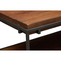 woodford dark brown coffee table