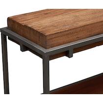 woodford dark brown sofa table