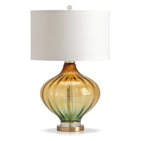 Yellow Green Glass Table Lamp