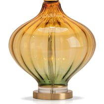 yellow green glass yellow and green table lamp