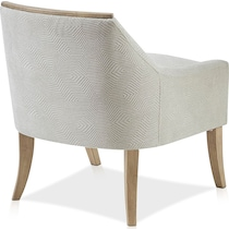 yucco white accent chair