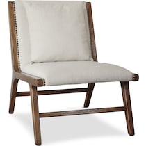 yuma white lounge chair