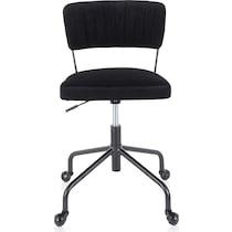 zella black office chair