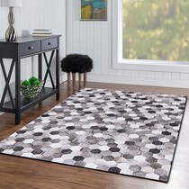 zoid gray area rug ' x '