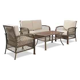 Zuma Outdoor Loveseat, 2 Chairs, and Coffee Table Set