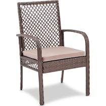 zuma gray outdoor chair